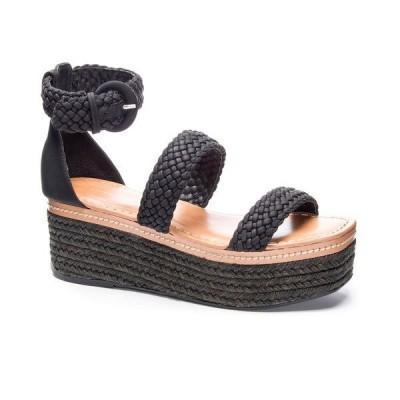 チャイニーズランドリー サンダル シューズ レディース Zella Flatform Sandals Black