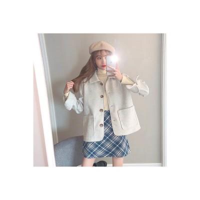 【送料無料】年 秋冬 韓国風 ルース デュプレックス 羊 絨毛 コート 女 小 個 | 346770_A63845-0492295