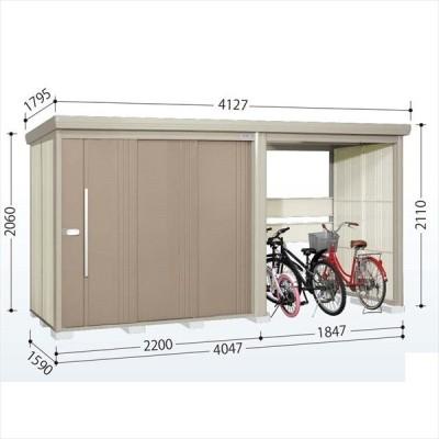 物置 屋外 おしゃれ タクボ物置 TP/ストックマンプラスアルファ TP-40R15 一般型 標準屋根 『追加金額で工事可能』 カーボンブラウン