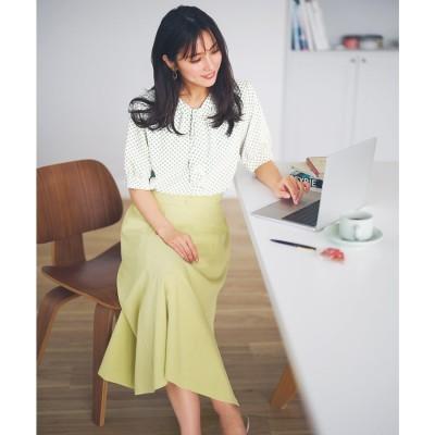 any SiS 【洗える】フェミニンマチフレア スカート (ライトイエロー)