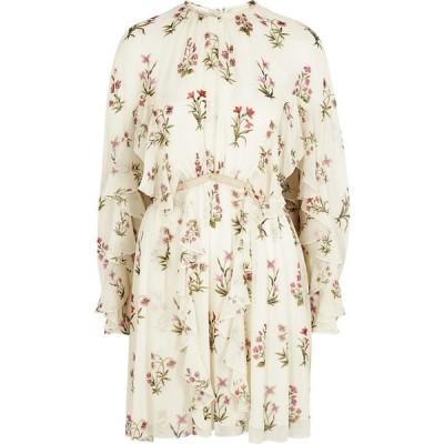 ジャンバティスタ バリ Giambattista Valli レディース パーティードレス ミニ丈 ワンピース・ドレス Floral-Print Silk-Chiffon Mini Dress Natural