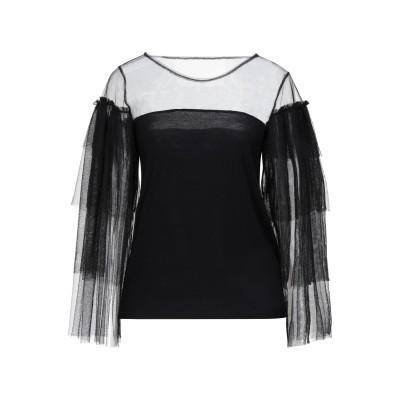 MARCIANO T シャツ ブラック 40 レーヨン 96% / ポリウレタン 4% / ポリエステル T シャツ