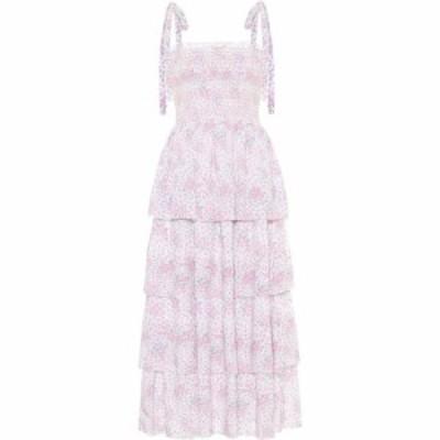 ラブシャックファンシー LoveShackFancy レディース ワンピース ミドル丈 ワンピース・ドレス Caressa floral cotton midi dress Candy H