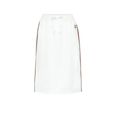 グッチ Gucci レディース ひざ丈スカート スカート Cotton-blend midi skirt Off White/Mc