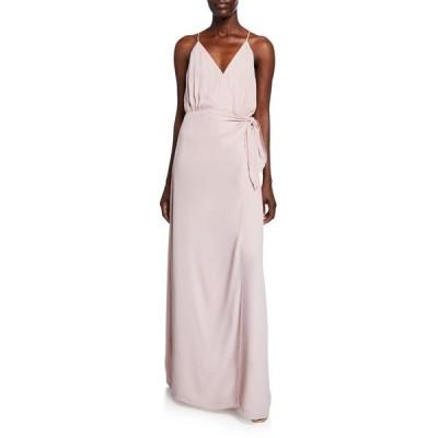 ワイフ レディース ワンピース トップス The Wynona Faux Wrap Gown