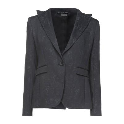 メッサジェリエ MESSAGERIE テーラードジャケット ブラック 42 コットン 81% / ポリエステル 18% / ポリウレタン 1% テー