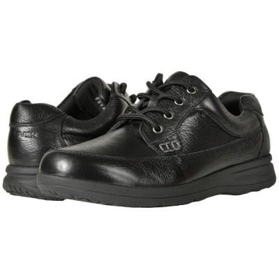 ノンブッシュ オックスフォード メンズ Cam Moc Toe Oxford Black Tumbled Leather