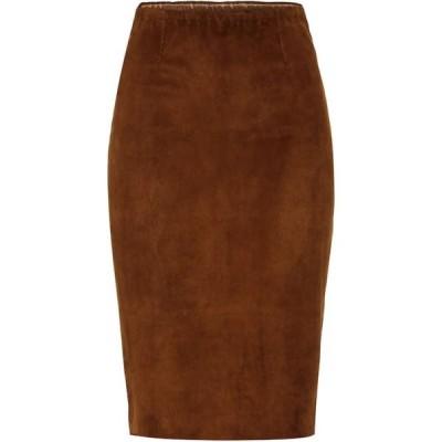 ストールス Stouls レディース ひざ丈スカート スカート Gilda suede midi skirt Santal