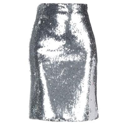 VICOLO ひざ丈スカート シルバー S ポリエステル 100% ひざ丈スカート