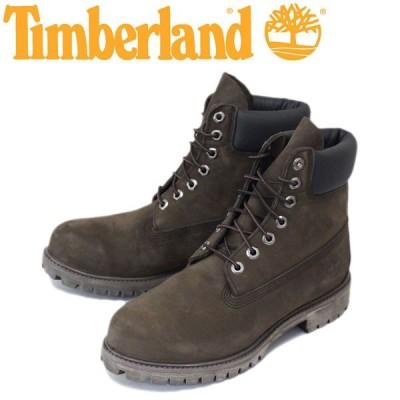 Timberland (ティンバーランド) ICON 10001 6in Premium Boot (アイコン シックスインチ プレミアム レザーブーツ) ダークチョコレート ヌバック TB007