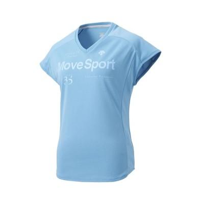 (DESCENTE/デサント)【レディス】Tシャツ(防汚加工フライス付)/レディース ブルー系