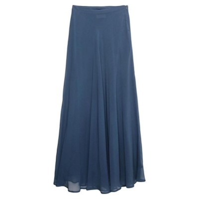 MOMONI ロングスカート ファッション  レディースファッション  ボトムス  スカート  ロング、マキシ丈スカート ブルーグレー