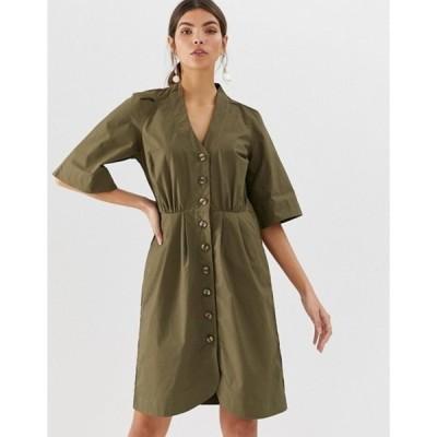 ワイエーエス レディース ワンピース トップス Y.A.S cotton button through mini dress
