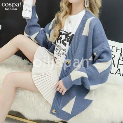 カーディガン レディース ニット ビッグサイズ 大きめ セーター 冷え対策 冷房対策 韓国 10代 20代 30代 40代 50代