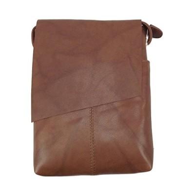 ILI アメリカ 日本未発売 6647-Toffee ili New York 6647 Leather Mini Sac Flap Crossbody (Toffee)