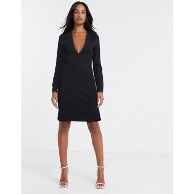 ワイ エー エス Y.A.S レディース ボディコンドレス ワンピース・ドレス Atlanta bodycon party dress in black ブラック