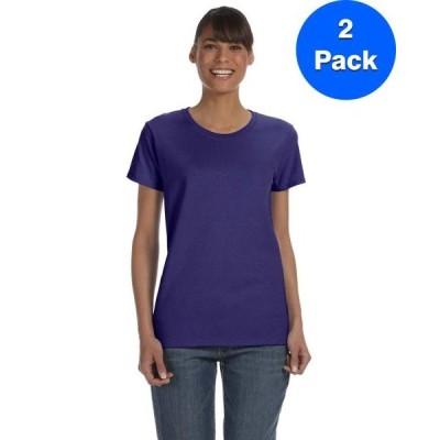 レディース 衣類 トップス Womens 5.3 oz. Heavy Cotton Missy Fit T-Shirt 2 Pack Tシャツ