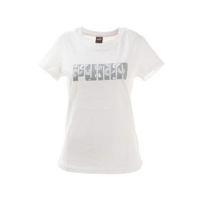 プーマ(PUMA) バンドル PUMA Tシャツ 586053 01 WHT 半袖 母の日 (レディース)
