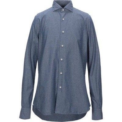 ザカス XACUS メンズ シャツ トップス patterned shirt Slate blue