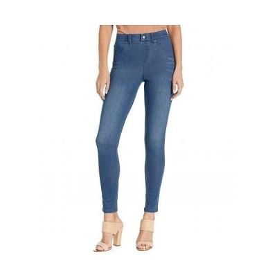 HUE ヒュー レディース 女性用 ファッション ジーンズ デニム High-Waist Ultra Soft Denim Leggings - Steely Blue Wash