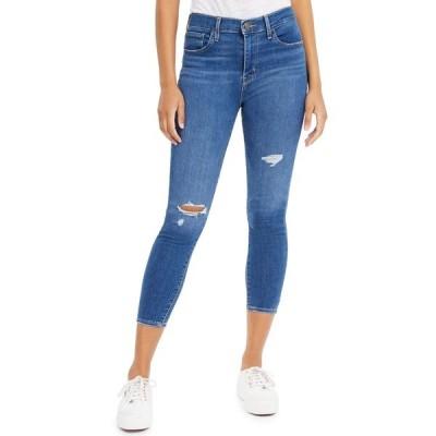 リーバイス デニムパンツ ボトムス レディース Women's 720 Cropped Super-Skinny Jeans Quebec Echo