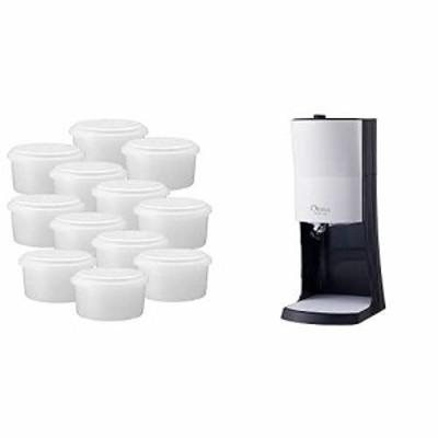 【セット買い】ドウシシャ 電動ふわふわ とろ雪 かき氷器+製氷カップ12個セット