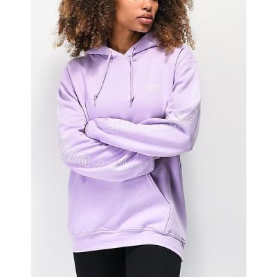 オベイ OBEY レディース パーカー トップス Obey Worldwide Outline Lavender Hoodie Light/pastel purple