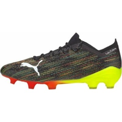 プーマ メンズ スニーカー シューズ PUMA Ultra 1.2 FG Soccer Cleats Black/Yellow