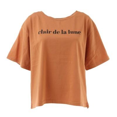 LOVERS' LANE 45ウェア幅広プリントTシャツ XE12800158-ORGオレンジ