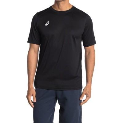アシックス メンズ シャツ トップス Circuit Short Sleeve Top Team Shirt TEAM BLACK