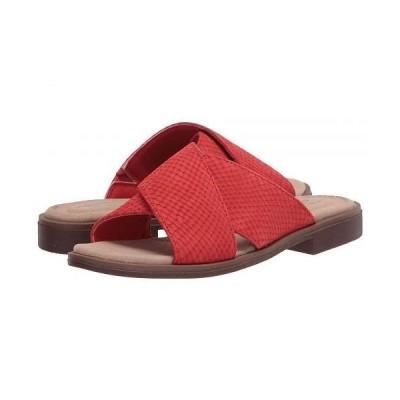 Clarks クラークス レディース 女性用 シューズ 靴 サンダル Declan Ivy - Red Interest Nubuck