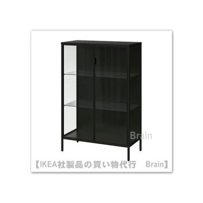 IKEA/イケア RUDSTA/ルードスタ コレクションケース80x37x120 cm チャコール