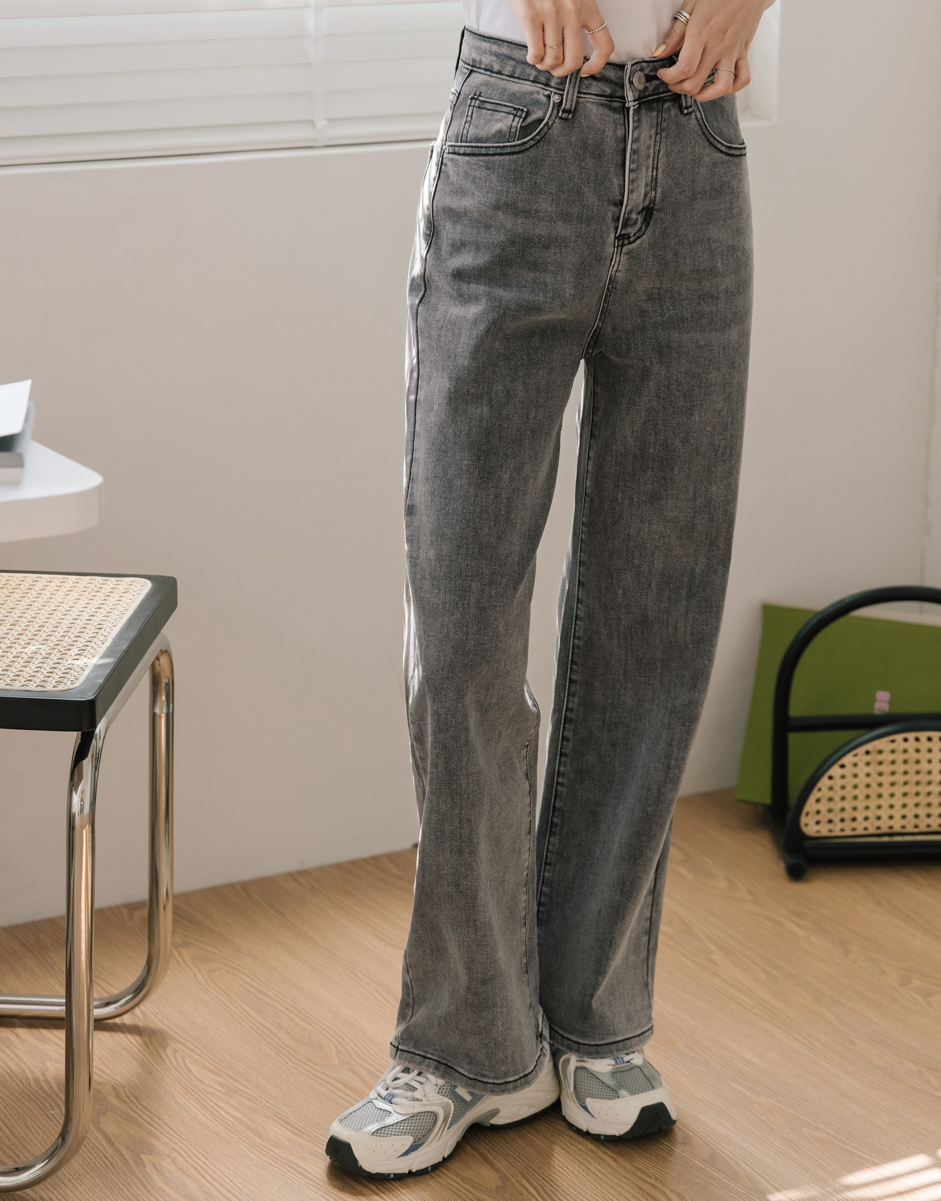 #PS201 歐美感率性直筒牛仔褲-PAZZO