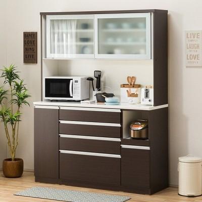食器棚(レジューム 150AG-S DBR/150SH-R DBR) ニトリ 『配送員設置』 『5年保証』