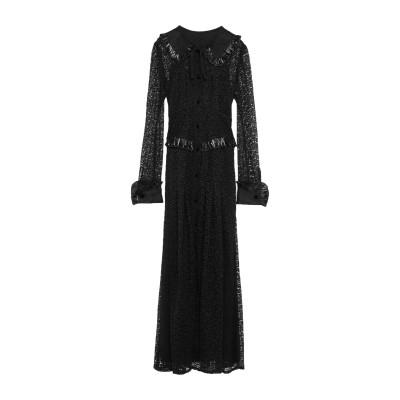 アレッサンドラ・リッチ ALESSANDRA RICH ロングワンピース&ドレス ブラック 38 ナイロン 54% / レーヨン 46% / シルク