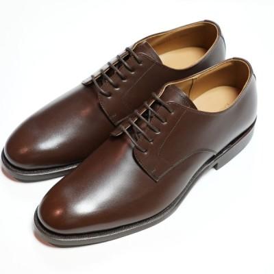 日本製グッドイヤーウエルト紳士靴 ショーンハイト 外羽根プレーントウ(SH111-4)ラバー底 ブラウン