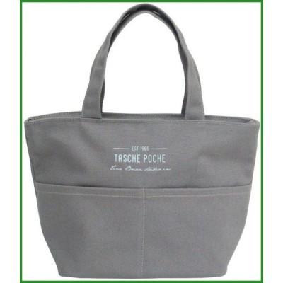 送料無料 Poche(ポッシェ) 帆布ポケット付バッグ GY 72581|b03