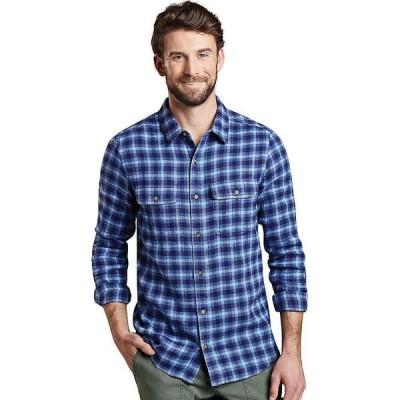 トードアンドコー Toad & Co メンズ シャツ スリム ネルシャツ トップス Me's Indigo Flannel Slim LS Shirt Light Indigo Windowpane