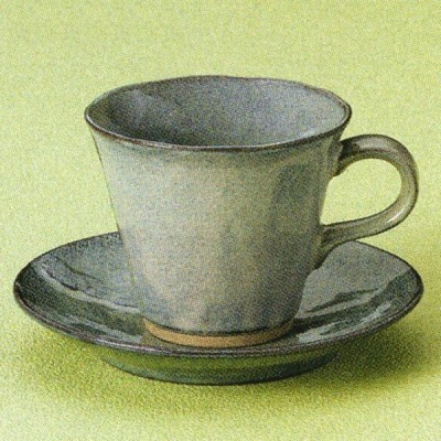 鉄均窯 コーヒー碗皿 (コーヒー・紅茶・ホット・喫茶店)