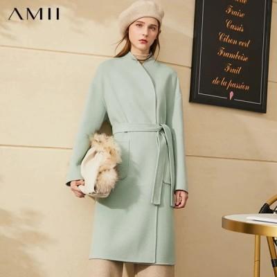 海外輸入アパレル Amii Minimalism Winter Coat Women Temperament OLstyle Double-sided