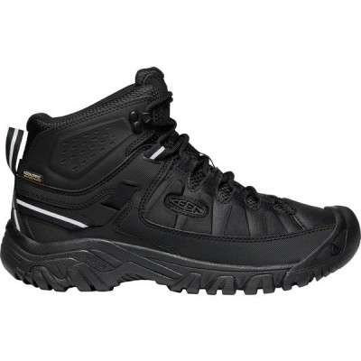 キーン ブーツ&レインブーツ シューズ メンズ KEEN Men's Targhee EXP Mid Waterproof Hiking Boots Black/Black