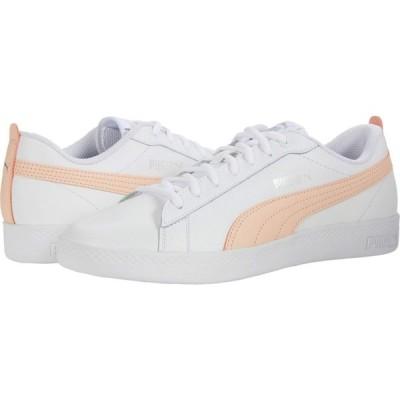 プーマ PUMA レディース スニーカー シューズ・靴 Smash V2 L Puma White/Peach Parfait/Puma Silver