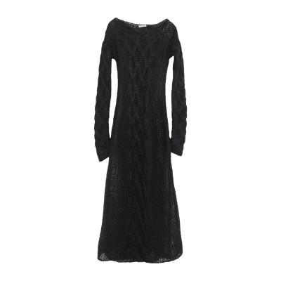 ミュウミュウ MIU MIU 7分丈ワンピース・ドレス ブラック 40 モヘヤ 67% / ナイロン 30% / ウール 3% 7分丈ワンピース・ド
