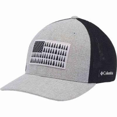 コロンビア Columbia ユニセックス キャップ 帽子 Mesh Tree Flag Ball Cap - High Crown Columbia Grey Heather/Black