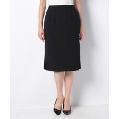 Leilian(レリアン)サイドプリーツタイトスカート