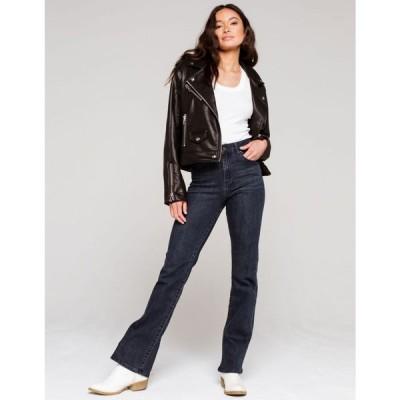 トラクター TRACTR レディース ジーンズ・デニム ブーツカット ボトムス・パンツ Basic High Rise Bootcut Jeans DARK WASH