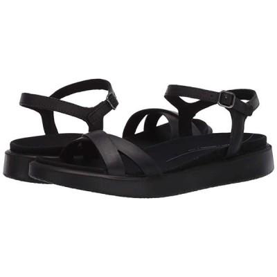 エコー Yuma Ankle Strap Sandal レディース サンダル Black Cow Nubuck