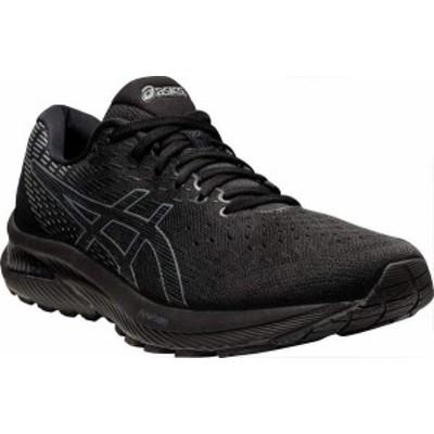 アシックス メンズ スニーカー シューズ GEL-Cumulus 22 Running Sneaker Black/Carrier Grey