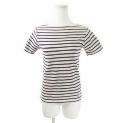 【中古】オーチバル ORCIVAL オーシバル カットソー バスクシャツ 半袖 ボーダー 紫 パープル /MN10 ★ レディース
