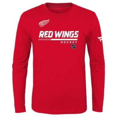 デトロイト・レッドウィングス Fanatics Branded Youth 少年用 Authentic Pro Long Sleeve T-シャツ - Red